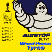 Michelin Tube 130/90,140/80,150/70,160/70-17