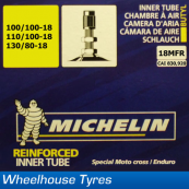 "Michelin MX Tube 18"" 100/100-18 (120/90-18)"