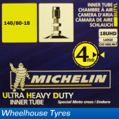 Michelin Ultra Heavy Duty MX Tube 18UHD-L 140/80-18