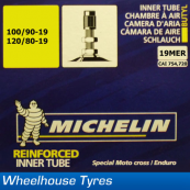 "Michelin MX Tube 19"" 100/90-19 (120/80-19)"
