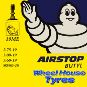 "Michelin Tube 19"" 2.75, 3.00 & 90/90-19"