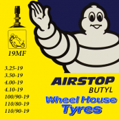 "Michelin Tube 19""3.25,3.50, 100/90,110/80 & 110/90-19"