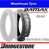 150/70B18 70Q AX41 TL/TT Rear Bridgestone Adventurecross