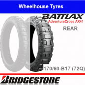 170/60B17 72Q AX41 TL/TT Rear Bridgestone Adventurecross