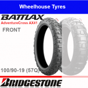 100/90-19 57Q AX41 TL/TT Front Bridgestone Adventurecross