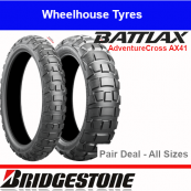Bridgestone Battlax AX41 Adventure Cross Motorcycle Tyre Pair Deal