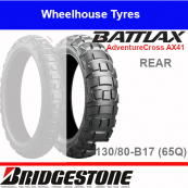 130/80B17 65Q AX41 TL/TT Rear Bridgestone Adventurecross