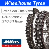 Mitas C-19 Front & XT-754 Rear Pair Deal - All Sizes & Compounds