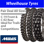 Mitas C-19 Front & C-02 Rear (Ideal for Green Lane, Trail & Competition use)