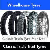 Classic Trials Trail Tyre Pair Deal - All Sizes