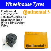 Continental Tubes A16 Road 2.25, 2.50, 2.75, 3.00, 80/90, 90/80-16 Straight Metal