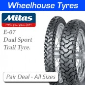Mitas E-07 & E-07 Dakar Pair Deal - All Sizes