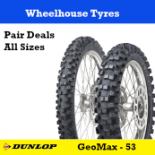 Dunlop Geomax MX53 Motorcycle Tyre - Pair Deal