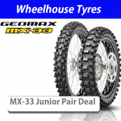 Dunlop Soft-Med Geomax MX33 Junior Motorcycle Tyre Pair Deal