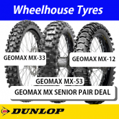 Dunlop Geomax MX Senior Motorcycle Tyre - Pair Deal
