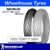 120/70R17 58H Michelin Pilot Street Radial Front T/L