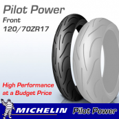 120/70ZR17 (58W) Pilot Power Michelin T/L