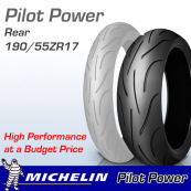 190/55ZR17 (75W) Pilot Power Michelin T/L
