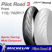 110/70ZR17 (54W) Pilot Road 3 Michelin T/L