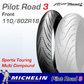 110/80ZR18 (58W) Pilot Road 3 Michelin T/L