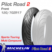 120/70ZR17 Michelin Pilot Road 2 58W