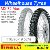 110/90-19 62M MX32 Mud Pirelli Scorpion  NHS