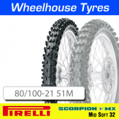 80/100-21 51M MX32 Mid Soft Pirelli Scorpion MST