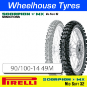 90/100-14 49M MX32 Mid Soft Pirelli Scorpion NHS
