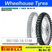 90/100-16 51M MX32 Mid Soft Pirelli Scorpion NHS