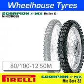 80/100-12 50M MX32 Mid Soft Pirelli Scorpion NHS