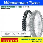 60/100-14 29M MX32 Mid Soft Pirelli Scorpion NHS