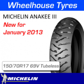 150/70R17 69V Anakee 3 Rear Tubeless Michelin