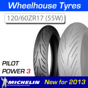 120/60ZR17 (55W) Pilot Power 3 Michelin T/L