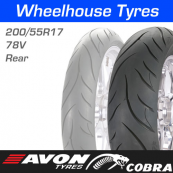 200/55R17 78V Avon AV72 Cobra Rear
