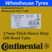 Continental Tubes CC21 2.7mm Heavy Duty MX/Enduro Tube All 21""