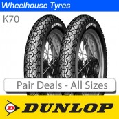 Dunlop K70 Classic Motorcycle Tyre Pair Deal