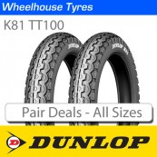 Dunlop K81 TT100 Motorcycle Tyre Pair Deal