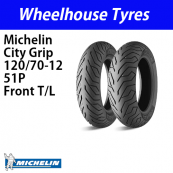 120/70-12 51P Michelin City Grip  Tubeless Front