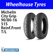 90/80-16 51S Michelin City Grip Reinf. Tubeless Front