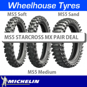 Michelin MS5 Starcross Senior MX Motorcycle Tyre Pair Deal