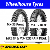 Dunlop MX Junior Sand Motorcycle Tyre Pair Deal