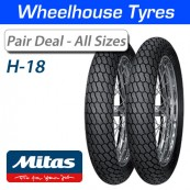 Mitas H-18 Road Legal Flat Track Pair Deal - All Sizes