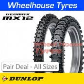 Dunlop Geomax MX-12 (Sand) Pair Deal - All Sizes