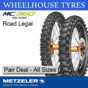 Metzeler MC360 Mid Hard Pair Deal - All Sizes