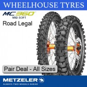 Metzeler MC360 Mid Soft Pair Deal - All Sizes