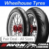 Avon Cobra Chrome Motorcycle Tyre Pair Deal All Sizes