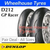 Dunlop D212 GP Racer Pair Deal - All Sizes & Compounds