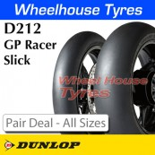 Dunlop D212 GP Racer Slick Pair Deal - All Sizes & Compounds