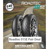 Metzeler Roadtec 01 SE Motorcycle Tyre Pair Deals - All Sizes (£40 Amazon Card)