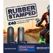 Metzeler Roadtec 01 Motorcycle Tyre Pair Deals - All Sizes (£40 Amazon Card)